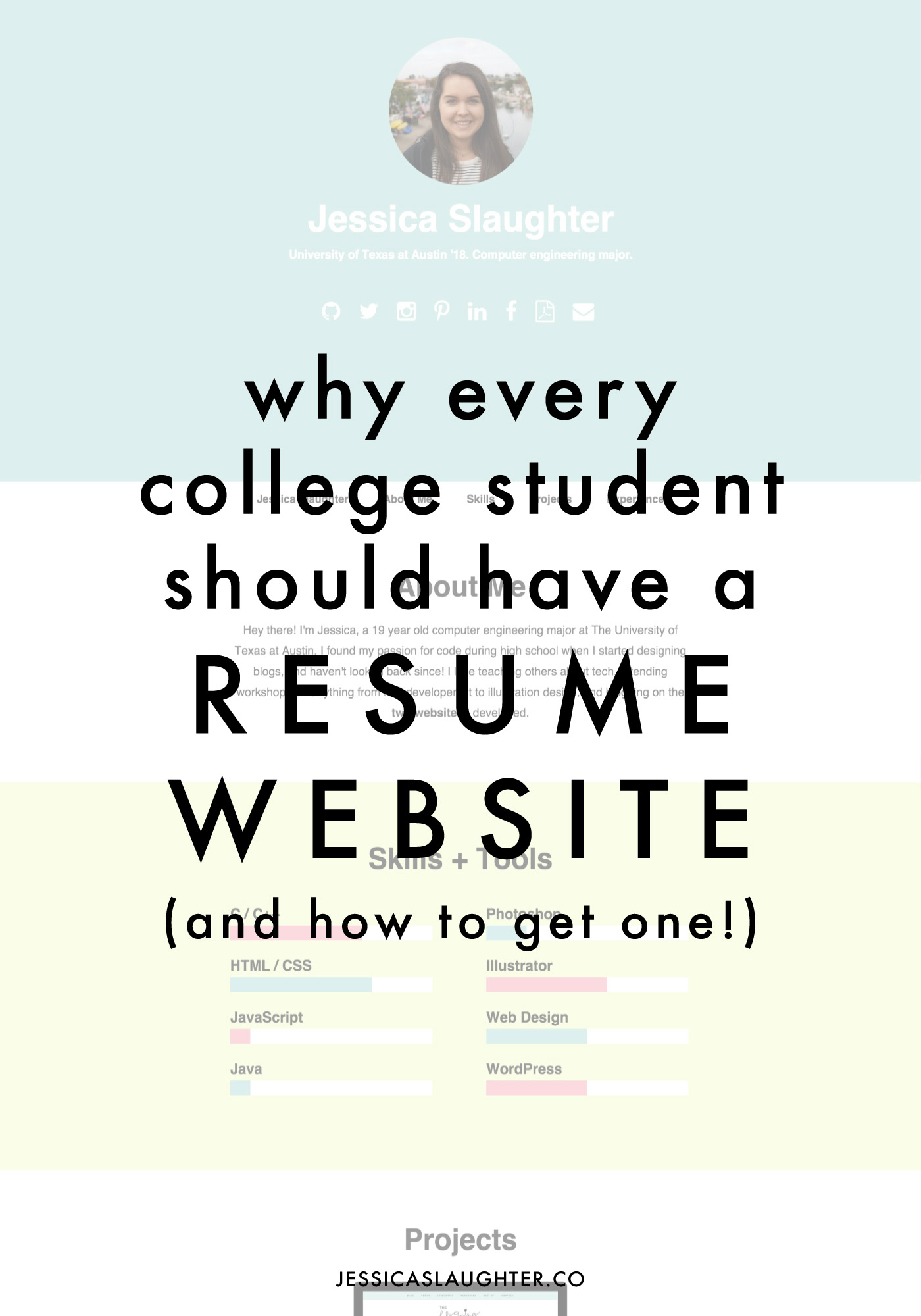 why every college student should have a resume website jessica slaughter - Website Resume